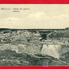 Postales: MELILLA , CHAFARINAS , OBRAS DEL PUERTO , CANTERAS , P32.672. Lote 16014885