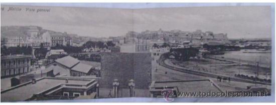 MAGNÍFICA POSTAL PANORÁMICA DE MELILLA. VISTA GENERAL (Postales - España - Melilla Antigua (hasta 1939))