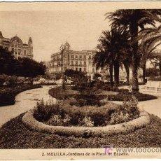 Postales: BONITA POSTAL - MELILLA - JARDINES DE LA PLAZA DE ESPAÑA. Lote 21134698