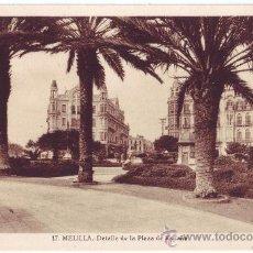 Postales: MELILLA: DETALLE DE LA PLAZA DE ESPAÑA. L. ROISIN. NO CIRCULADA (AÑOS 30). Lote 26841210