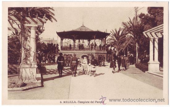 MELILLA: TEMPLETE DEL PARQUE. L. ROISIN. NO CIRCULADA (AÑOS 30) (Postales - España - Melilla Antigua (hasta 1939))