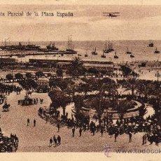 Postales: POSTAL MELILLA PLAZA ESPAÑA. ANIMADA MILITAR.. Lote 17822580