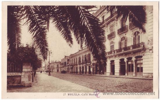 MELILLA: CALLE MARINA. L. ROISIN. NO CIRCULADA (AÑOS 30) (Postales - España - Melilla Antigua (hasta 1939))