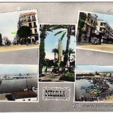 Postales: BONITA POSTAL - MELILLA - VARIAS VISTAS DE LA CIUDAD. Lote 26497618