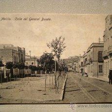 Postales: POSTAL ANTIGUA MELILLA CALLE DEL GENERAL BUCETA. . Lote 25168830