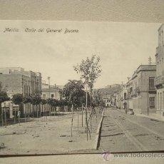 Postales: POSTAL ANTIGUA MELILLA CALLE DEL GENERAL BUCETA. . Lote 25474931