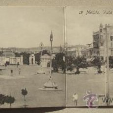 Postales: POSTAL DOBLE ANTIGUA MELILLA VISTA GENERAL PLAZA ESPAÑA. . Lote 25508593