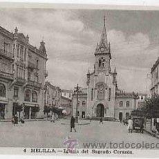 Postales: MELILLA. IGLESIA SAGRADO CORAZON. L. ROISIN, FOT. SIN CIRCULAR. Lote 22492389