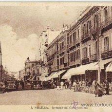 Postales: MELILLA - 3 AVENIDA DEL GENERALÍSIMO. Lote 22717757
