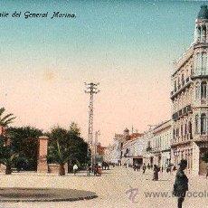 Postales: TARJETA POSTAL DE MELILLA. CALLE DEL GENERAL MARINA.. Lote 23716479