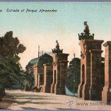 Postales: TARJETA POSTAL DE MELILLA. ENTRADA AL PARQUE HERNANDEZ.. Lote 23716488