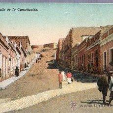 Postales: TARJETA POSTAL DE MELILLA. CALLE DE LA CONSTITUCION.. Lote 23716558