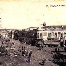 Postales: POSTAL MELILLA CALLE GENERAL CHACEL . Lote 23795269