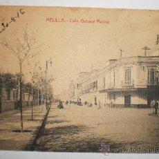 Postales: MELILLA - CALLE GENERAL MARINA 30/8/1916. Lote 26132263