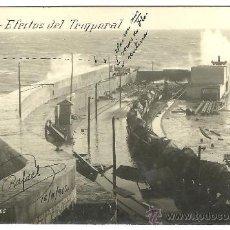 Postales: TARJETA POSTAL FOTOGRAFICA DE MELILLA - EFECTOS DEL TEMPORAL - MARRUECOS. Lote 24150352