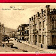 Postales: MELILLA, CALLE CERVANTES Y CAMARA COMERCIO, P49638. Lote 24735100