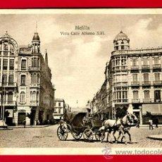 Postales: MELILLA, VISTA CALLE ALFONSO XIII, P49666. Lote 24735423