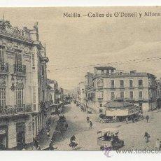 Postales: MELILLA CALLES DE O´DONELL Y ALFONSO XIII. Lote 238018855