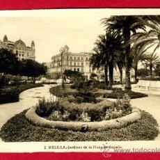 Postales: MELILLA, JARDINES DE LA PLAZA DE ESPAÑA, P61125. Lote 26703574