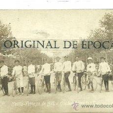 Postales: (PS-22562)POSTAL FOTOGRAFICA DE MELILLA-FIESTAS 1912.CICLISTAS EN LAS CARRERAS DE CINTAS. Lote 26763459