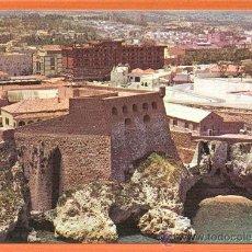 Postales: MELILLA - VISTA PARCIAL CON EDIFICIO ANFORA Y HOTEL - Nº 26 EXCLUSIVAS CARMAR MELILLA. Lote 27194056