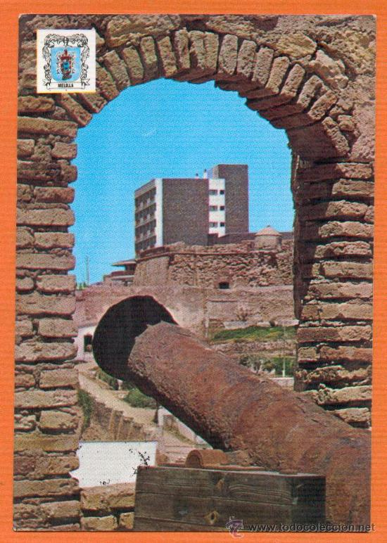 MELILLA - VISTA DESDE BATERIA DE LA MURALLA REAL PARADOR PEDRO DE ESTOPIÑAN - Nº 1359 MONTERO 1973 (Postales - España - Melilla Moderna (desde 1940))