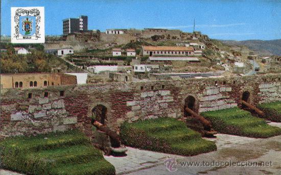 MELILLA 5470 BATERÍA DE LA MURALLA REAL ESCRITA CIRCULADA SELLO COLECCIÓN PERLA (Postales - España - Melilla Moderna (desde 1940))