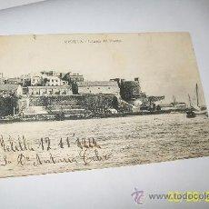 Postales: ANTIGUA POSTAL ( 12/11/1914 ) MELILLA.- ENTRADA DEL PUERTO.- USADA EN AMBAS CARAS. Lote 28115325