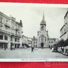Postales: MELILLA - PLAZA DE MENENDEZ PELAYO. Lote 28855435