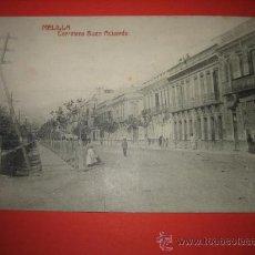 Postales: MELILLA CARRETERA BUEN ACUERDO CIRCULADA 1913 . Lote 29150114