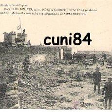 Cartoline: POSTAL CAMPAÑA DEL RIF MONTE ARRUIT 1921 POSICION DEFENSA GENERAL NAVARRO,SIN CIRCULAR!!. Lote 29267861
