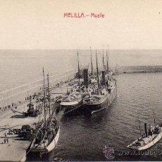 Postales: MELILLA.- MUELLE.- EDICIÓN LUIS HERRERA.-. Lote 29905966