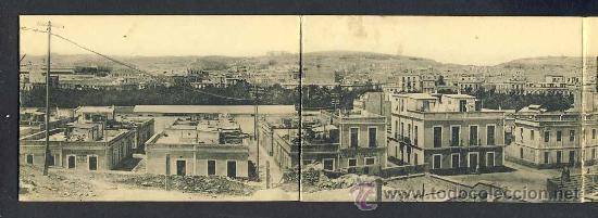 POSTAL DE MELILLA DESPLEGABLE CUADRUPLE: VISTA GENERAL (VER FOTO ADICIONAL) (Postales - España - Melilla Antigua (hasta 1939))