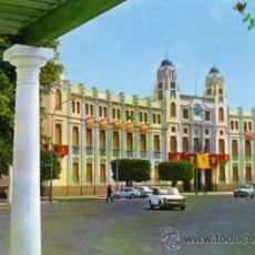 Postales: MELILLA Nº 1350 PLAZA DE ESPAÑA PALACIO MUNICIPAL MONTERO ESCRITA CIRCULADA SELLO. Lote 31751530