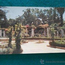 Postales: POSTAL DE MELILLA DETALLE DEL PARQUE HERNANDEZ CIRCULADA 1958 CON SELLO. Lote 32026539