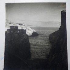 Postales: ANTIGUA Y GIGANTE FOTOGRAFIA DE MELILLA, FOTO CALVACHE, AL FONDO FUERTES DE VICTORIA CHICA DEL FRAUD. Lote 32176430