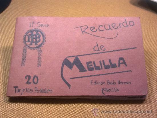 20 POSTALES RECUERDO DE MELILLA EDICIÓN BOIX HERMANOS IIª SERIE (Postales - España - Melilla Antigua (hasta 1939))