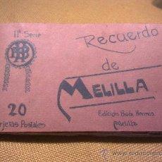 Postales: 20 POSTALES RECUERDO DE MELILLA EDICIÓN BOIX HERMANOS IIª SERIE. Lote 32615103