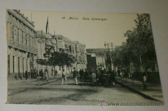 ANTIGUA POSTAL DE MELILLA - N. 18 - CALLE SOTOMAYOR - EDICION. BOIX HERMANOS (Postales - España - Melilla Antigua (hasta 1939))