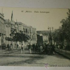 Postales: ANTIGUA POSTAL DE MELILLA - N. 18 - CALLE SOTOMAYOR - EDICION. BOIX HERMANOS. Lote 32618625