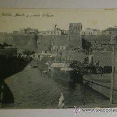Postales: ANTIGUA POSTAL DE MELILLA - N. 19 - MUELLE Y PUEBLO ANTIGUO - EDICION. BOIX HERMANOS. Lote 32618627