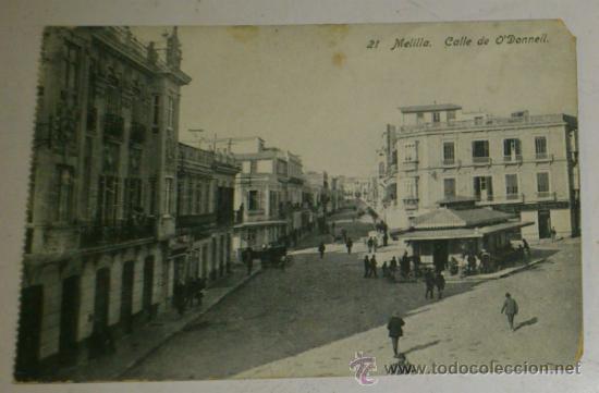 ANTIGUA POSTAL DE MELILLA - N. 21 - CALLE DE O`DONNELL - EDICION. BOIX HERMANOS (Postales - España - Melilla Antigua (hasta 1939))