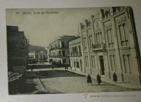 ANTIGUA POSTAL DE MELILLA - N. 23 - CALLE DE CERVANTES- EDICION. BOIX HERMANOS (Postales - España - Melilla Antigua (hasta 1939))