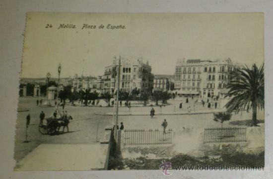 ANTIGUA POSTAL DE MELILLA - N. 24- PLAZA DE ESPAÑA- EDICION. BOIX HERMANOS (Postales - España - Melilla Antigua (hasta 1939))