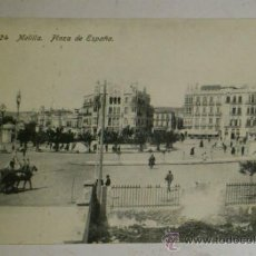 Postales: ANTIGUA POSTAL DE MELILLA - N. 24- PLAZA DE ESPAÑA- EDICION. BOIX HERMANOS. Lote 32618649
