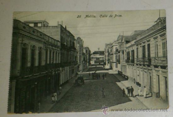 ANTIGUA POSTAL DE MELILLA - N. 26-CALLE DE PRIM, EDICION. BOIX HERMANOS (Postales - España - Melilla Antigua (hasta 1939))