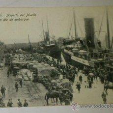 Postales: ANTIGUA POSTAL DE MELILLA - N. 27, ASPECTO MUELLE, EN DIA DE EMBARQUE, EDICION. BOIX HERMANOS. Lote 32618657