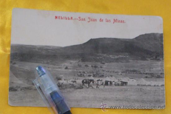 MELILLA, SAN JUAN DE LAS MINAS LA RECONQUISTA. FOTOTIPIA CASTAÑEIRA Y ALVAREZ, MADRID 14X9 ESCRITA (Postales - España - Melilla Antigua (hasta 1939))
