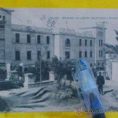 Postales: CEUTA , COLEGIO DE LOS PP. AGUSTINOS Y PLAZA RUIZ, FOTOTIPIA DE HAUSER Y MENET MADRID ,14X9 ESCRITA. Lote 32788704
