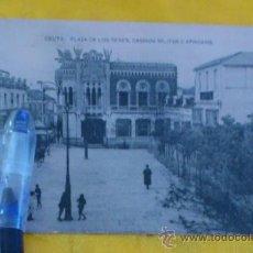 Postales: CEUTA ,PL DE LOS REYES. CASINOS MILITAR DE Y AFRICANO , FOTOTIPIA DE HAUSER Y MENET MADRID ,14X9. Lote 32788738